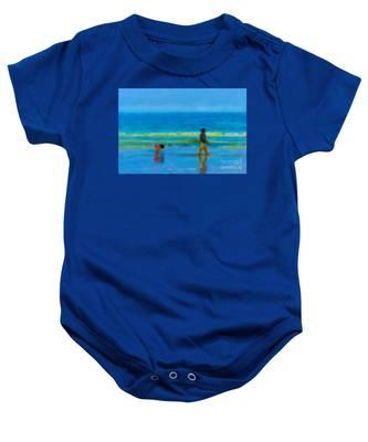 Beach Blues Baby Onesie