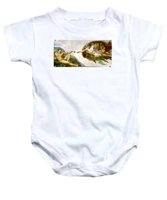 The Creation Of Adam Baby Onesie