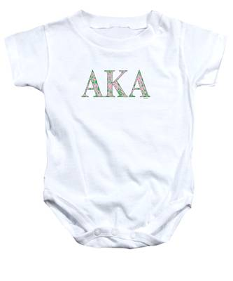 Alpha Kappa Alpha Infant Long Sleeve Onesie