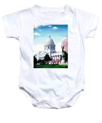 Arkansas Capitol Blossoms Baby Onesie