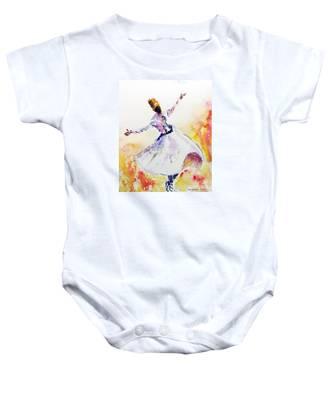 Whirling Sufi Dervish Baby Onesie