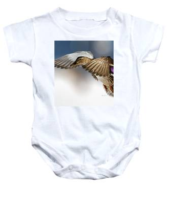 Flight Of The Mallard Baby Onesie