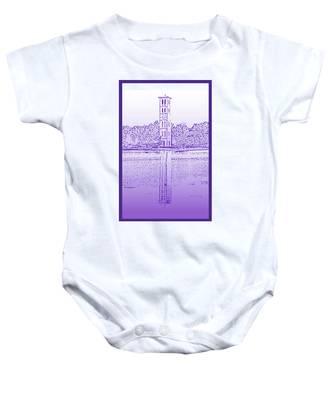 Furman Bell Tower Baby Onesie