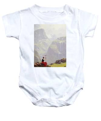 High In The Mountains Baby Onesie