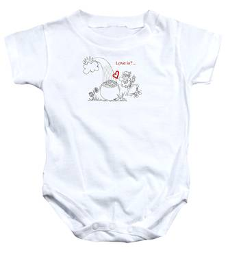 Pot Of Gold Valentines  Baby Onesie