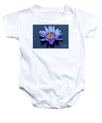 Single Lavender Water Lily Baby Onesie