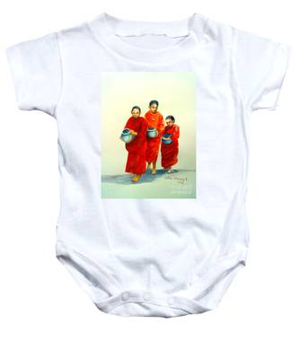 The Young Monks Baby Onesie