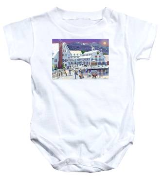 Wintertime At Waterville Valley New Hampshire Baby Onesie