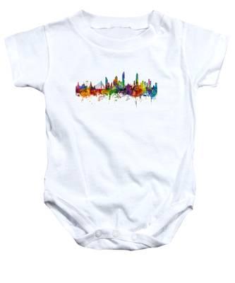 Bangkok Thailand Skyline Baby Onesie