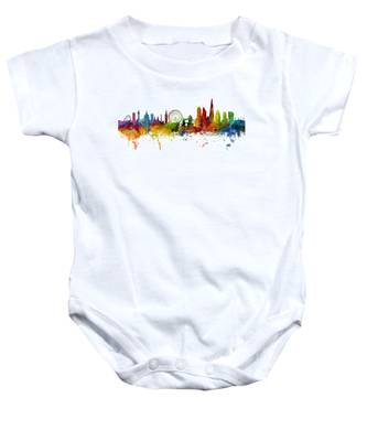 London England Skyline Panoramic Baby Onesie