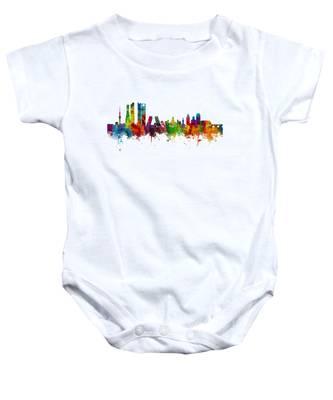 Madrid Spain Skyline Baby Onesie