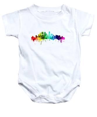 Minneapolis Minnesota Skyline Baby Onesie