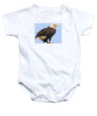 Baby Onesie featuring the photograph Bald Eagle by Dart and Suze Humeston