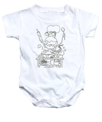 Closet Monster Baking Baby Onesie