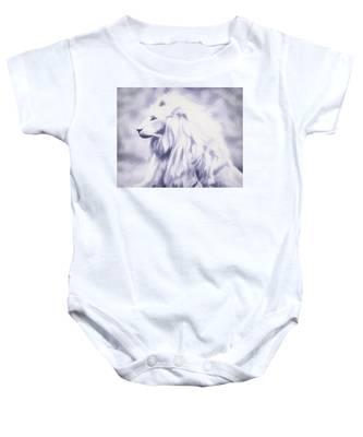 Fantasy White Lion Baby Onesie