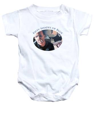 Fifty Shades Of Blue Baby Onesie