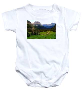 Going To The Sun Road Baby Onesie