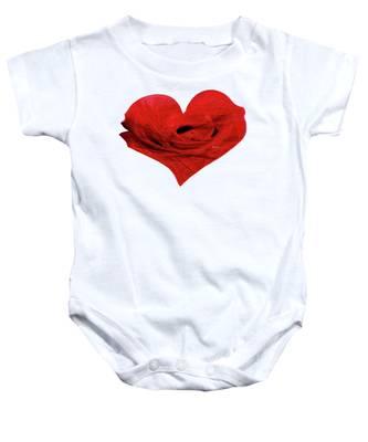 Heart Sketch Baby Onesie
