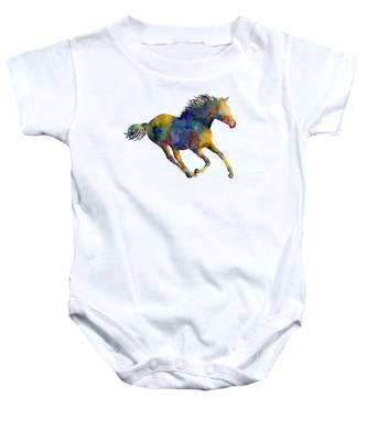 Abstract Horse Baby Onesies