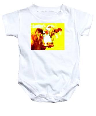 Yellow Cow Baby Onesie