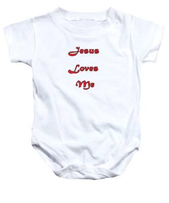 Jesus Loves Me Baby Onesie