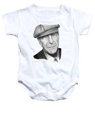 Leonard Cohen Baby Onesie