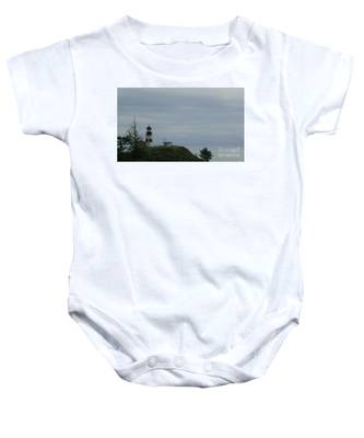 Lighthouse At Cape Disappointment Baby Onesie
