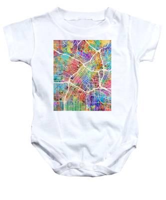Los Angeles City Street Map Baby Onesie