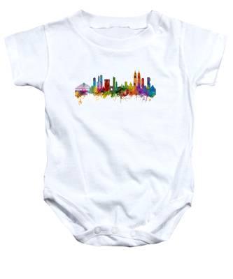 Mumbai Skyline India Bombay Baby Onesie