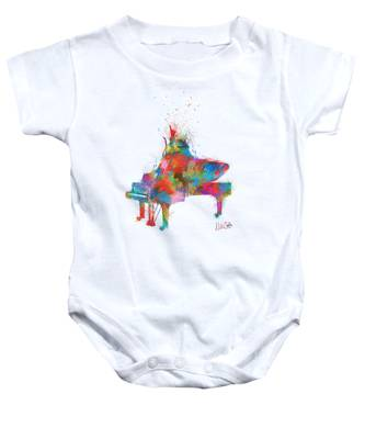 Music Strikes Fire From The Heart Baby Onesie