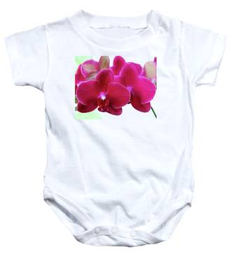 Red Orchid Baby Onesie