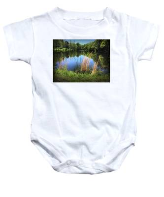 The Lake At Musgrove Mill Baby Onesie