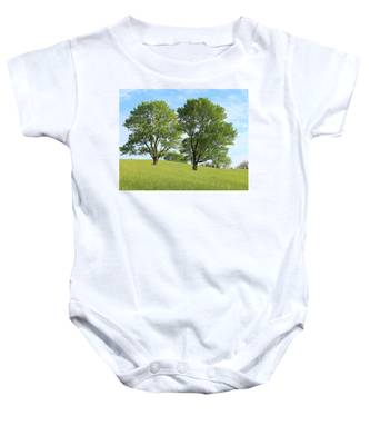 Summer Trees 4 Baby Onesie