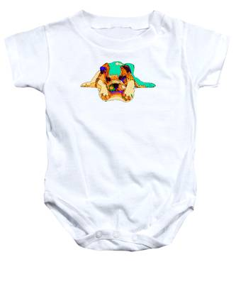 Waiting For You. Dog Series Baby Onesie