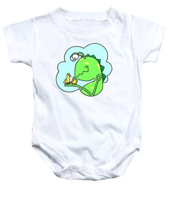 Monster Kissing Ducklings Baby Onesie