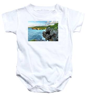 Cliffside Views Portland Jamaica Baby Onesie