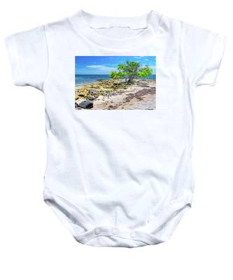 Lone Shore Tree Baby Onesie