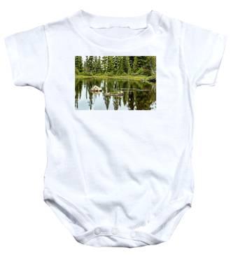 Rocks In A Mountain Pond Baby Onesie
