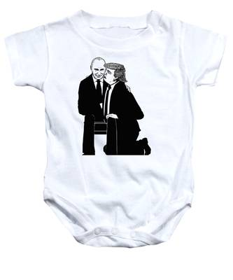 Trump On Knees Baby Onesie