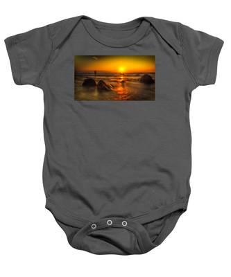 Montauk New York Summer Sunrise Baby Onesie