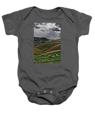 The Lord Is My Shepherd Judean Hills Israel Baby Onesie