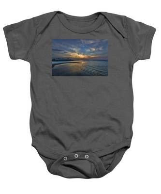 a joyful sunset at Tel Aviv port Baby Onesie