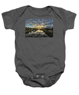 A Magical Marshmallow Sunrise  Baby Onesie
