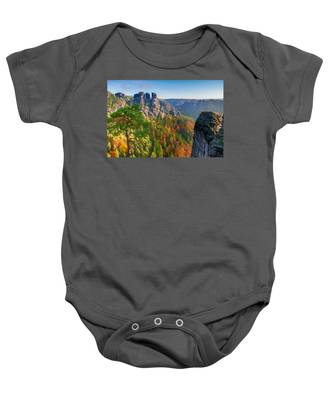 After The Sunrise On The Bastei Baby Onesie