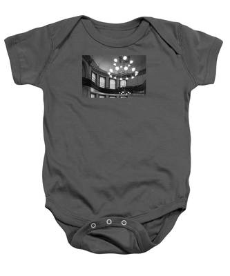 Antique Chandelier In Old Courtroom Baby Onesie