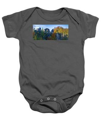 Bastei Bridge In The Elbe Sandstone Mountains Baby Onesie