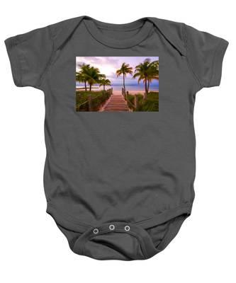 Beach Path Baby Onesie
