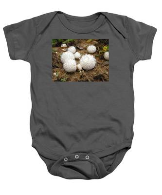 Common Puffball Dewdrop Harvest Baby Onesie