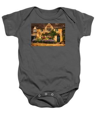 English Stone Cottage Baby Onesie
