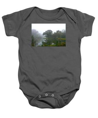 Foggy Morning At The Willows Baby Onesie